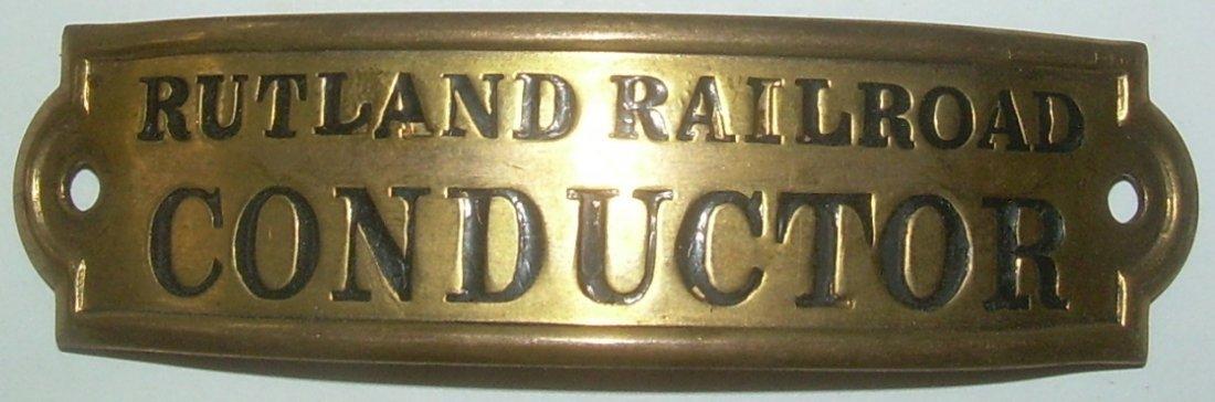 Rutland Railroad Conductor Hat Badge