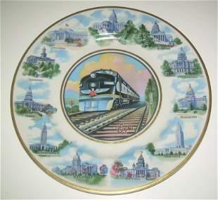 "Missouri Pacific ""State Capitols"" Service Plate"