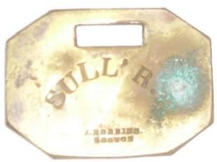 Sullivan County Railroad Brass Baggage Tag