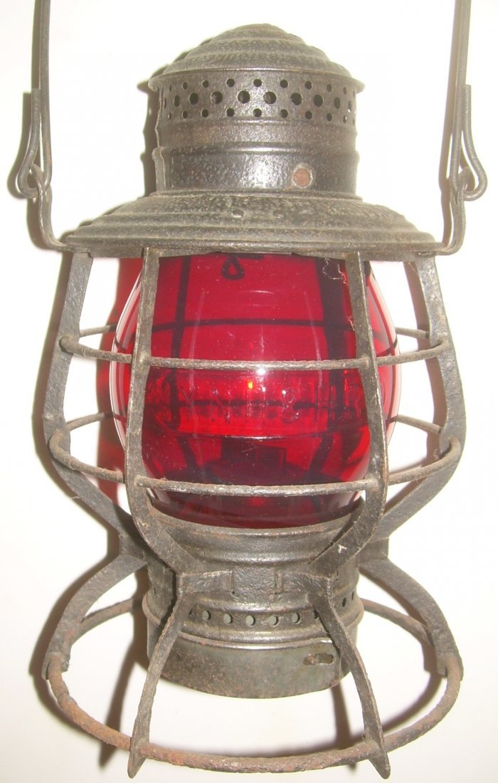 New Haven Red Cast Railroad Lantern
