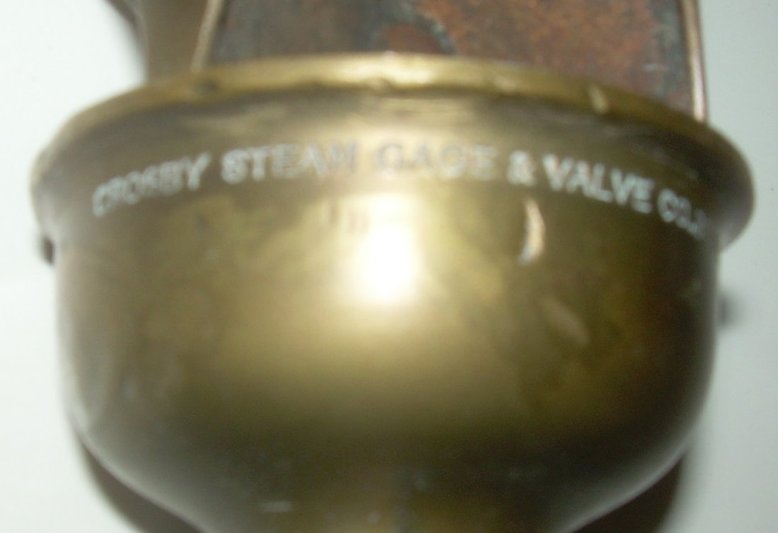 Brass 3 Chime Whistle - Crosby Steam Co. Boston - 3