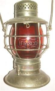 Frisco Bellbottom Lantern Amber Etched Logo Globe