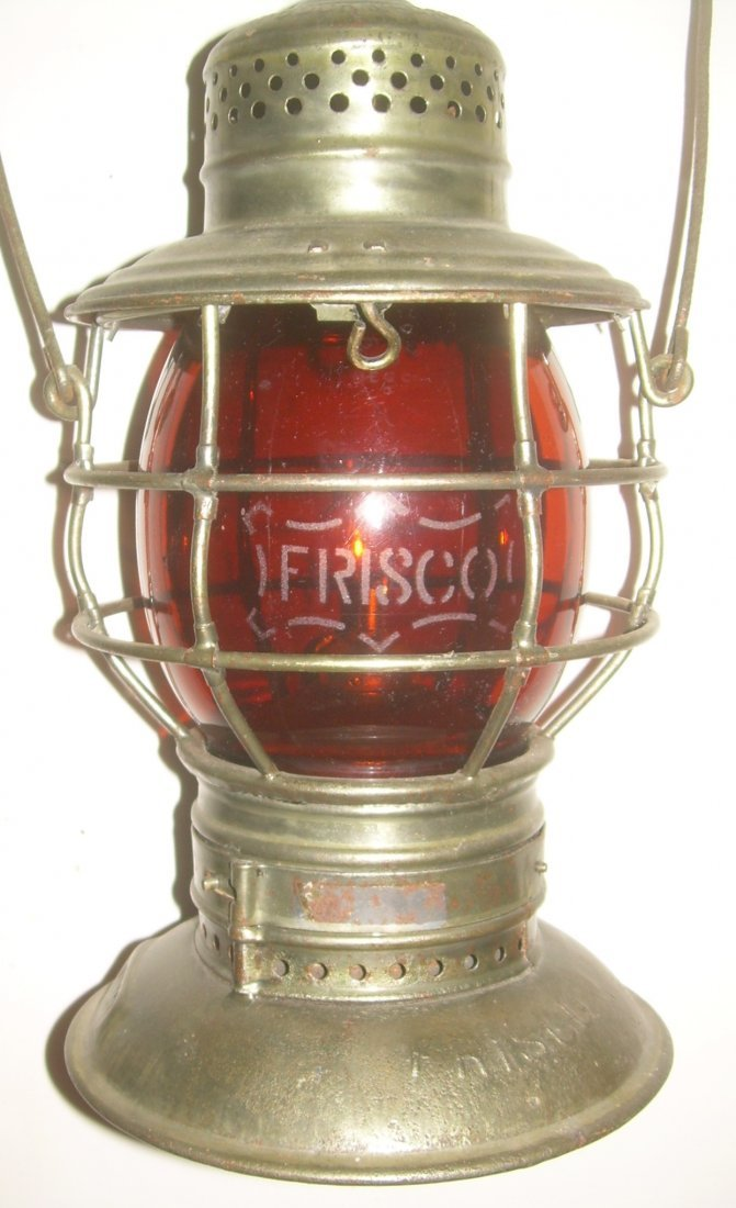 Frisco Bellbottom Lantern Amber Etched Logo Globe