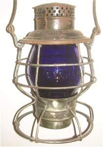 New Haven Blue Cast Globe Railroad Lantern