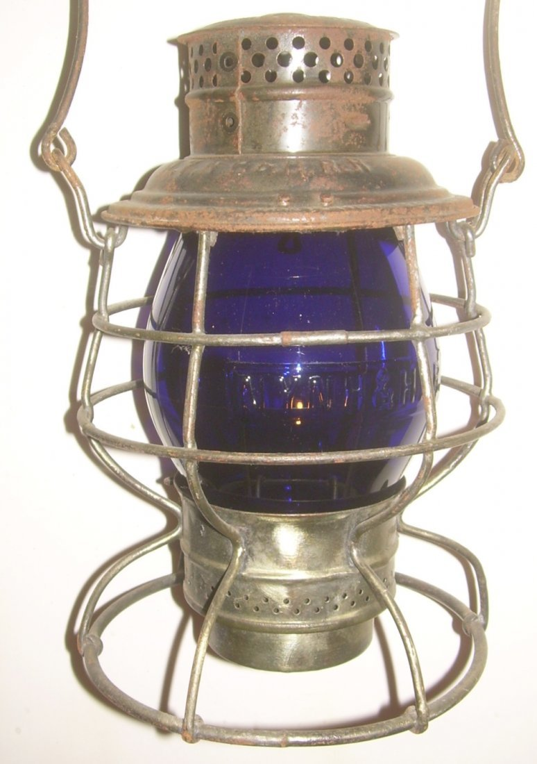 New Haven Blue Cast Globe Railroad Lantern