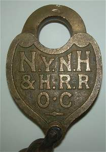 NYNH&H RR - OC Cast Back Car Lock S&B Mfg.