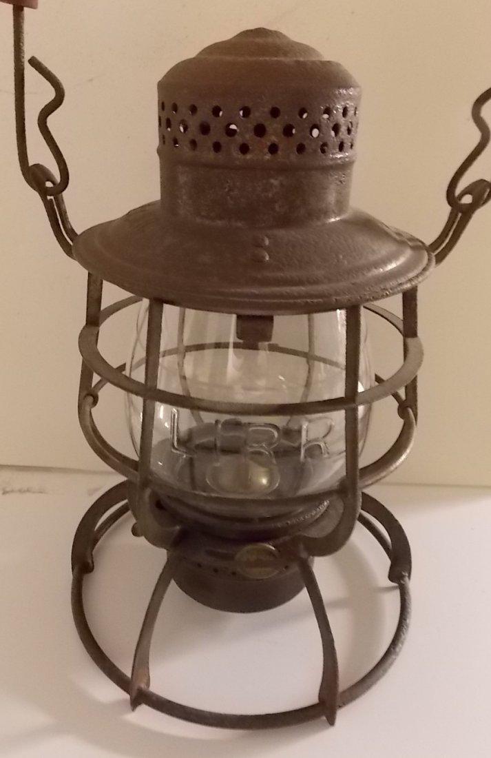 Long Island Railroad Lantern nice Cast Globe