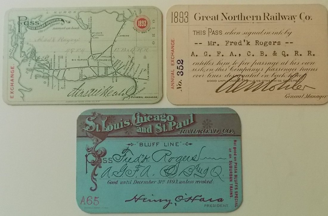 Annual Passes: C&WM, GN, StL Chicago & St Paul