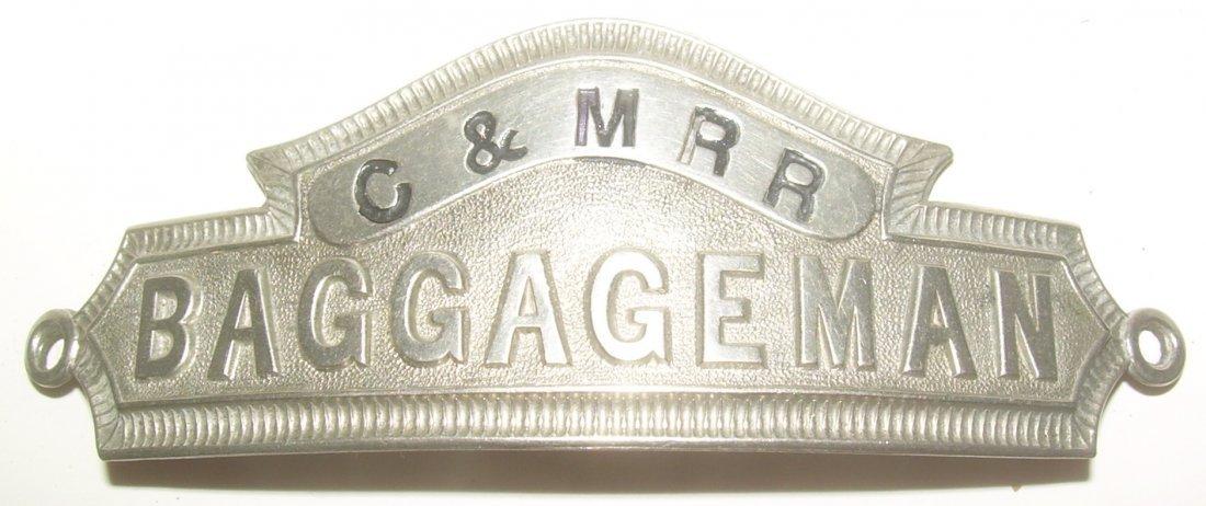 Concord & Montreal RR Baggageman Hat Badge