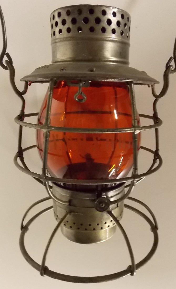 New Haven Dietz #39 Lantern Amber Etched Globe