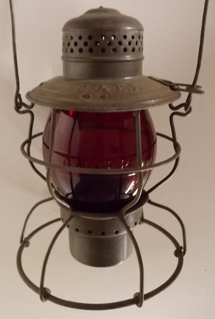 Chicago & Eastern Illinois Lantern Red Cast Globe