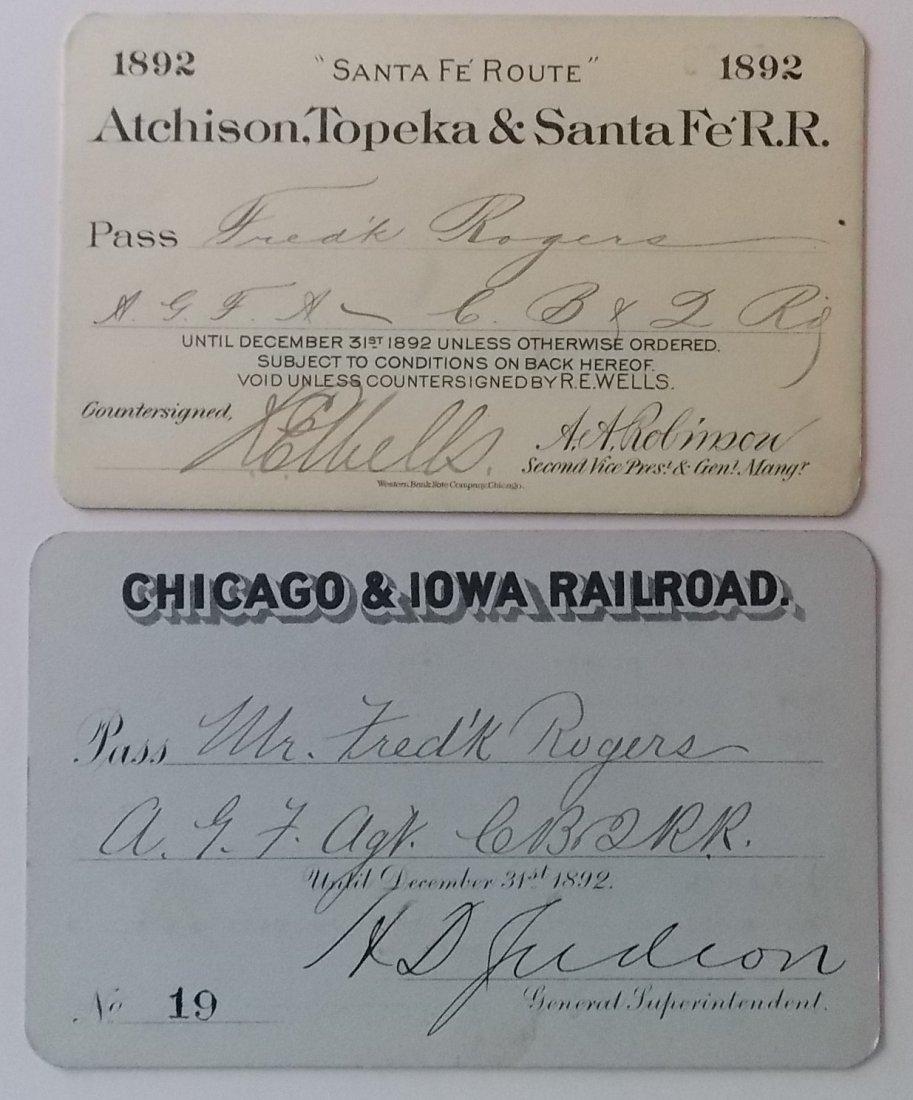Santa Fe & Chicago & Iowa Annual Passes