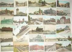 Postcards – Railroad Depots (60) Massachusetts