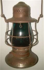 Fitchburg BTBB Railroad Lantern Green Cast Globe