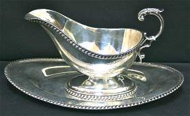 Sterling silver Gravy Boat and Tray