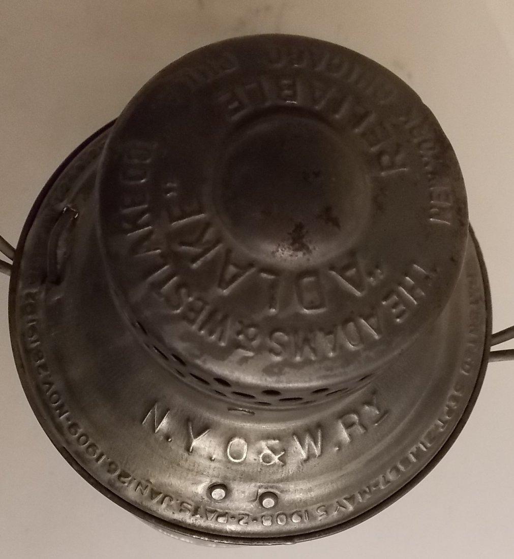 Ontario & Western Railroad Lantern BB O&W Globe - 3