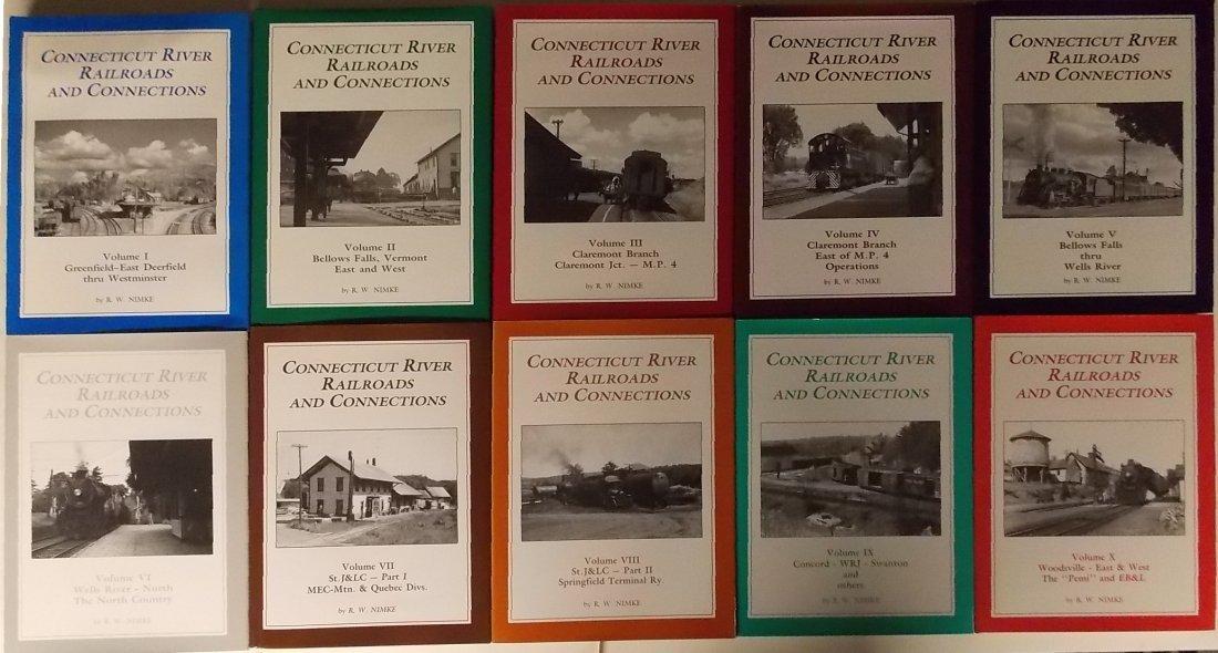 Connecticut River Railroads 10 Volumes by Nimke
