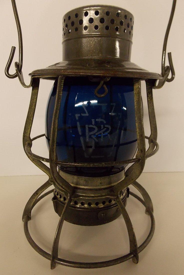 Pennsylvania Railroad Lantern Green Mellon Globe