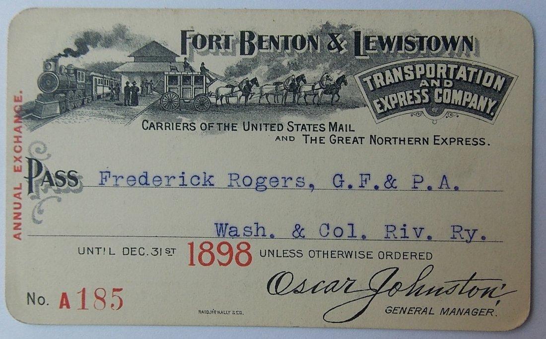 Fort Benton & Lewistown Trans & Express Co Pass