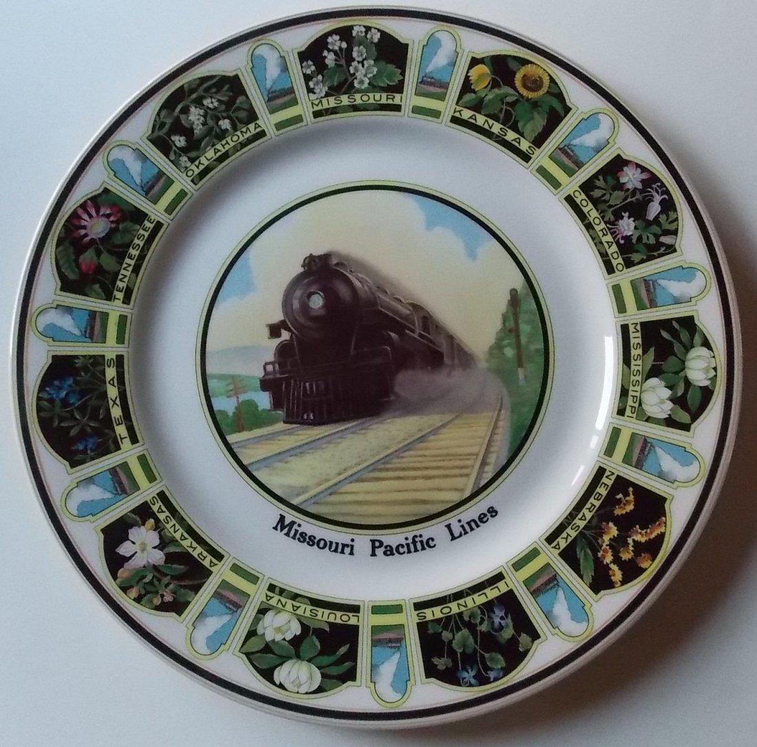 Missouri Pacific Railroad - Service Plate Flowers