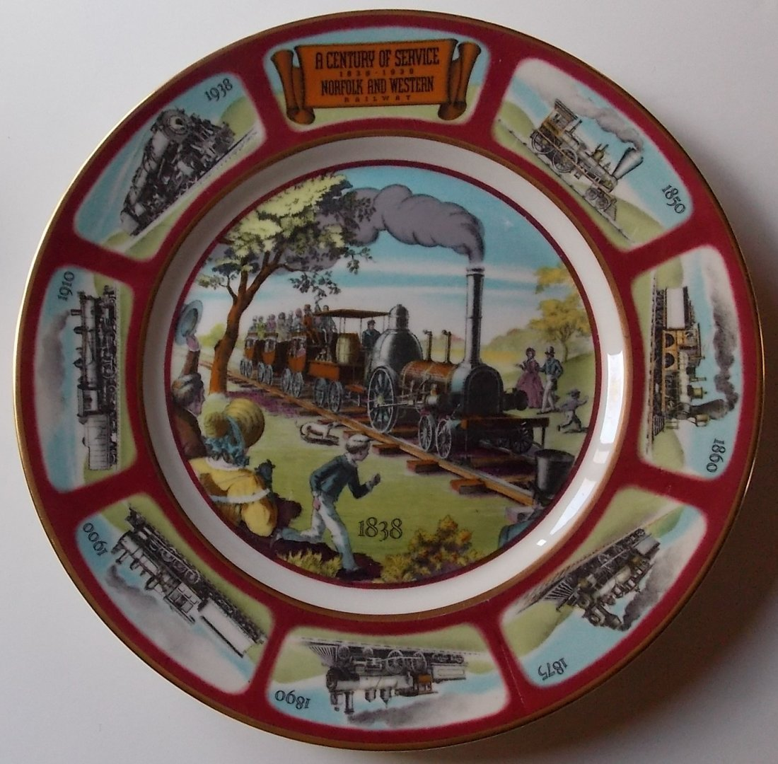 Norfolk & Western Railway 100 Year China Service Plate