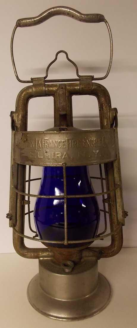 Dietz American La France Fire King Lantern Blue Globe