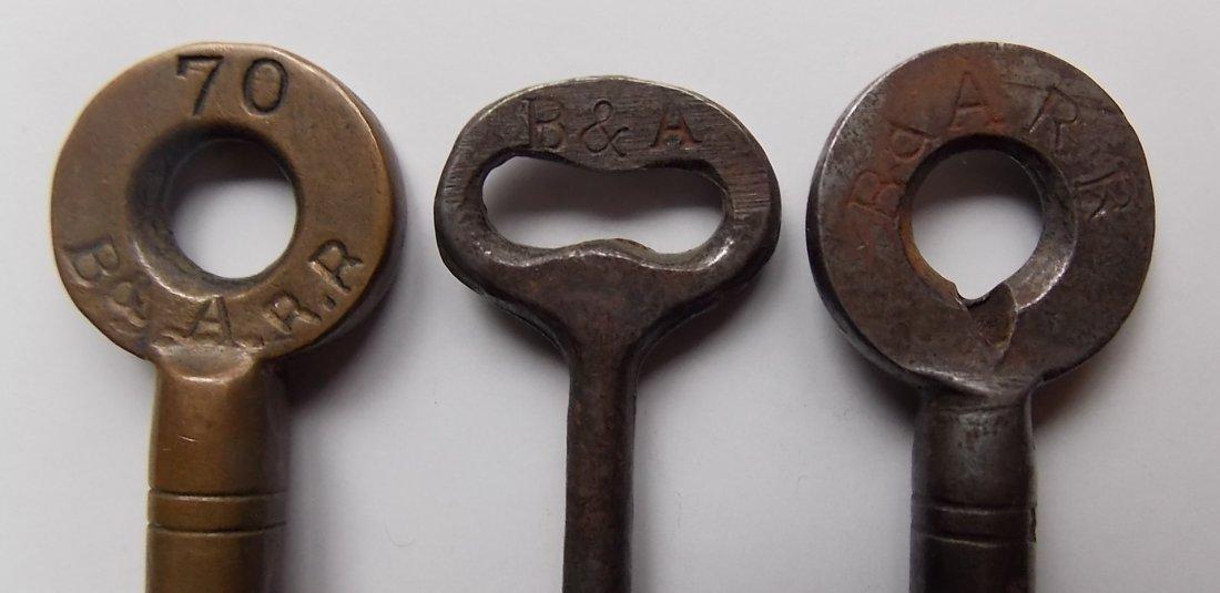 Boston & Albany Railroad (3) Keys Switch & Coach - 3