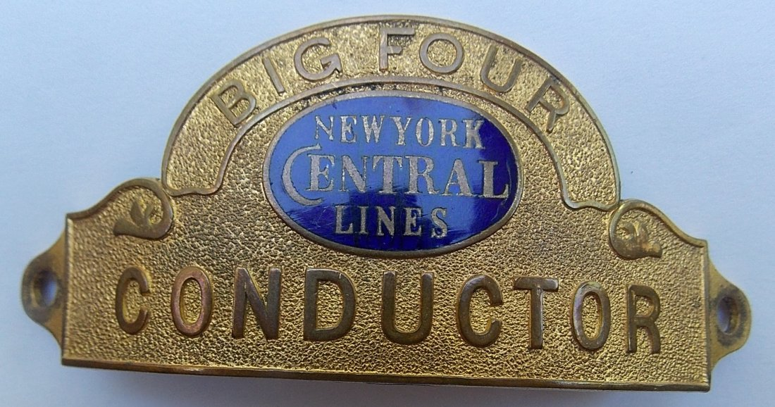 New York Central - Big Four Conductor Hat Badge