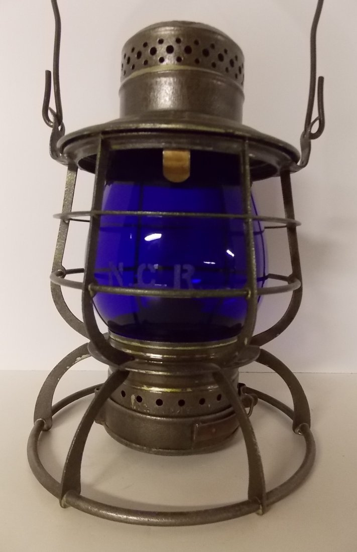 Northern Central Railway Lantern Blue Etched NCR