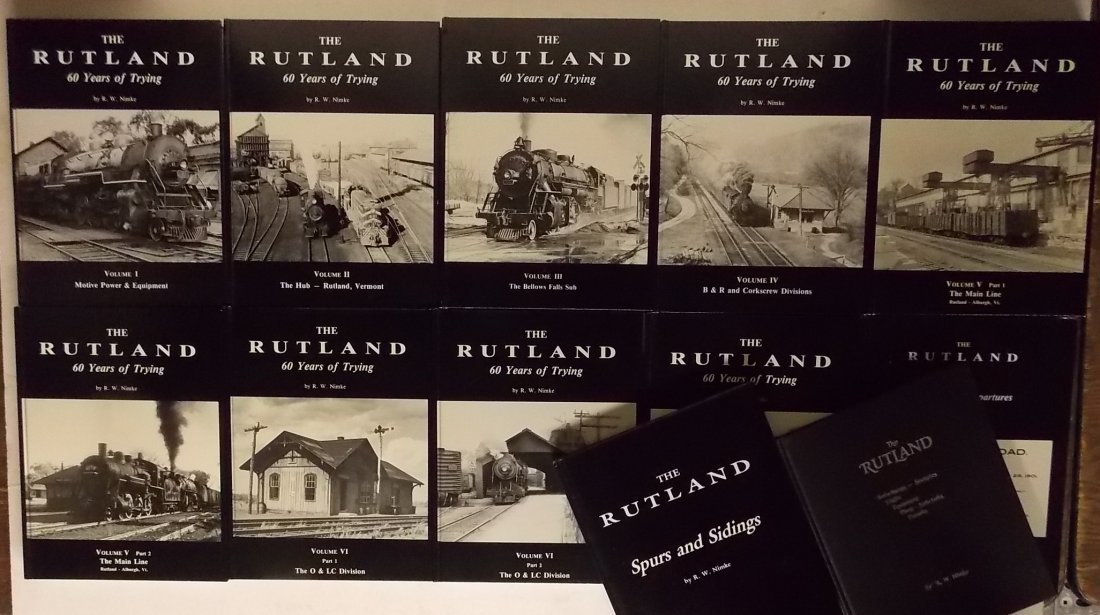 The Rutland Railroad by Nimke Books 12 Volume Set