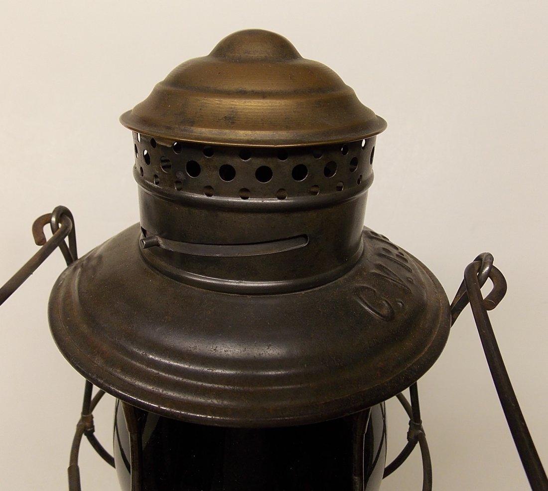 Central Vermont Railroad Brasstop Lantern - 5