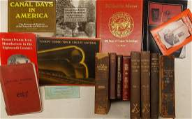 Box of Reference Books Railroads Canals Firefight