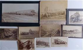 Mounted Photographs Railroads the West 10