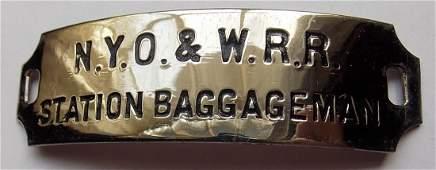 NYO&W Station Baggageman Hat Badge