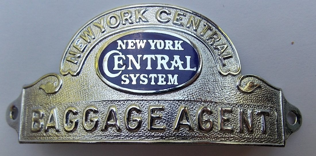 New York Central System Baggage Agent Hat Badge