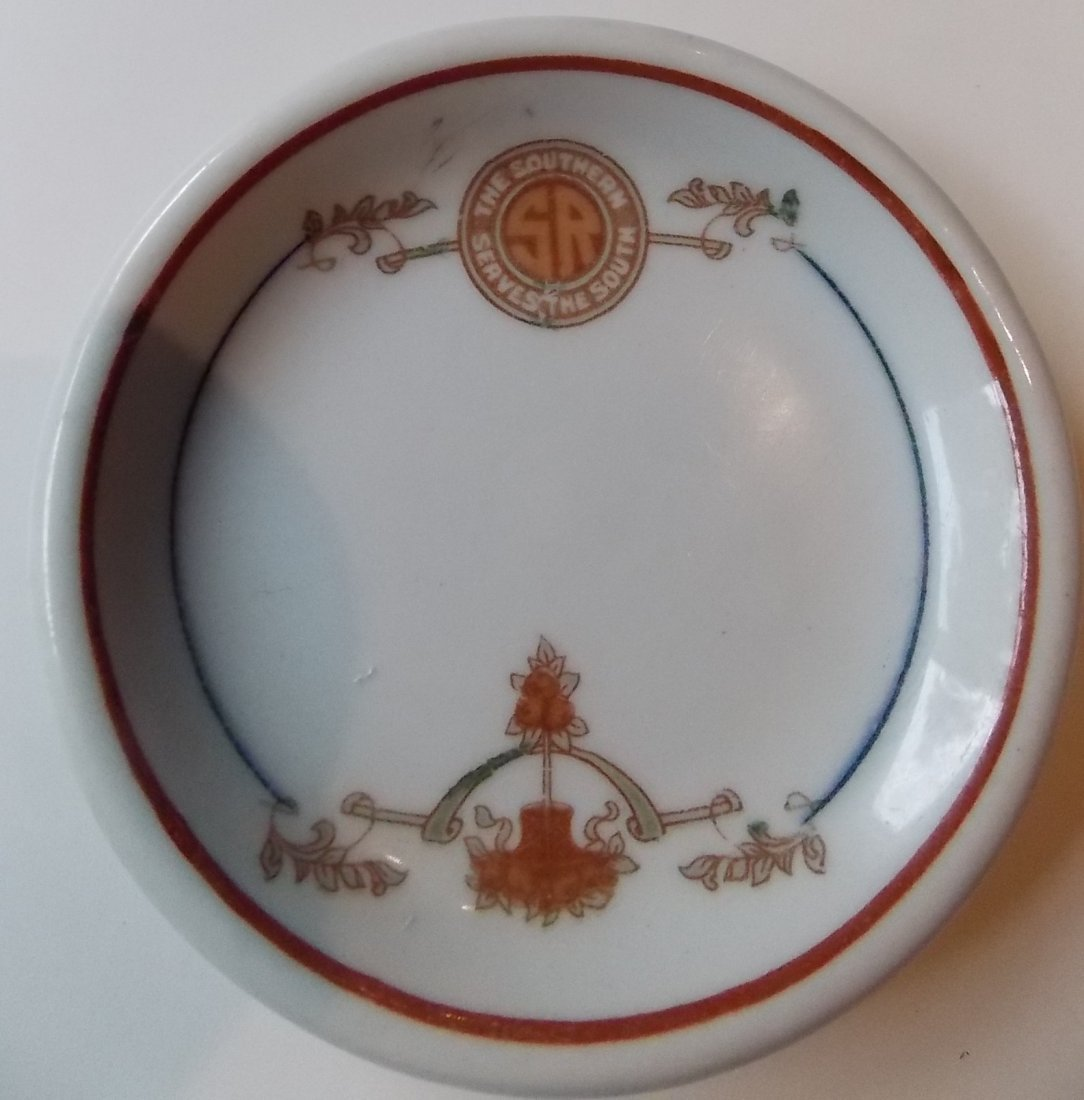 "Southern Railway ""Peach Blossom"" China Butter Pat"