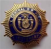 New York Central Railroad Lieutenant Police Badge