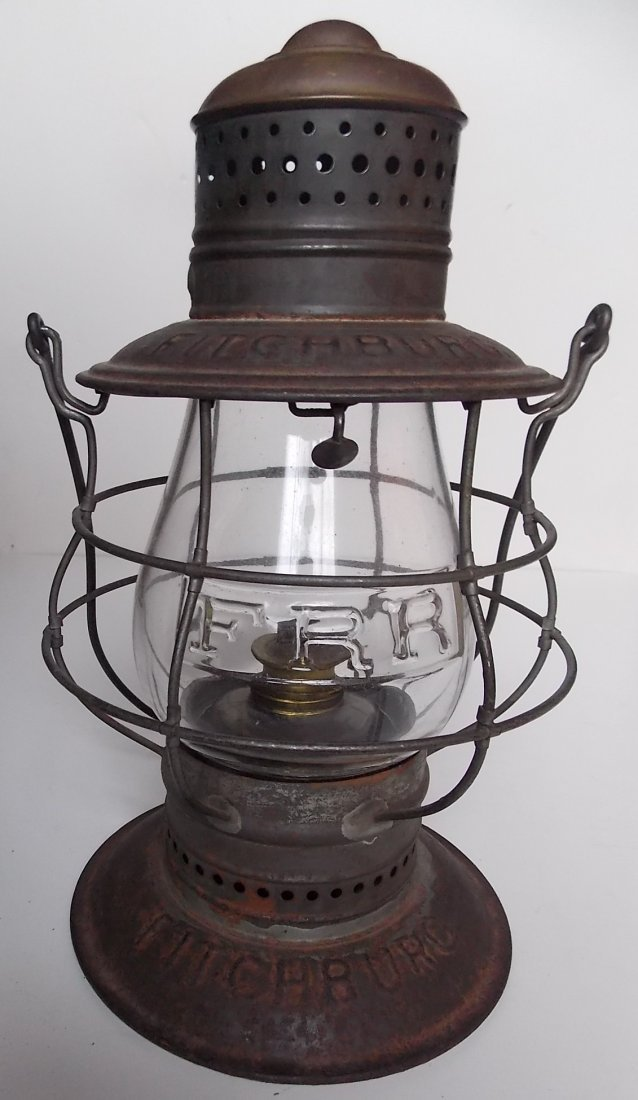 Fitchburg Railroad Triple Marked Brasstop Lantern