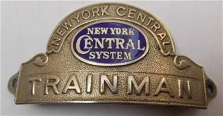 New York Central System Trainman Hat Badge