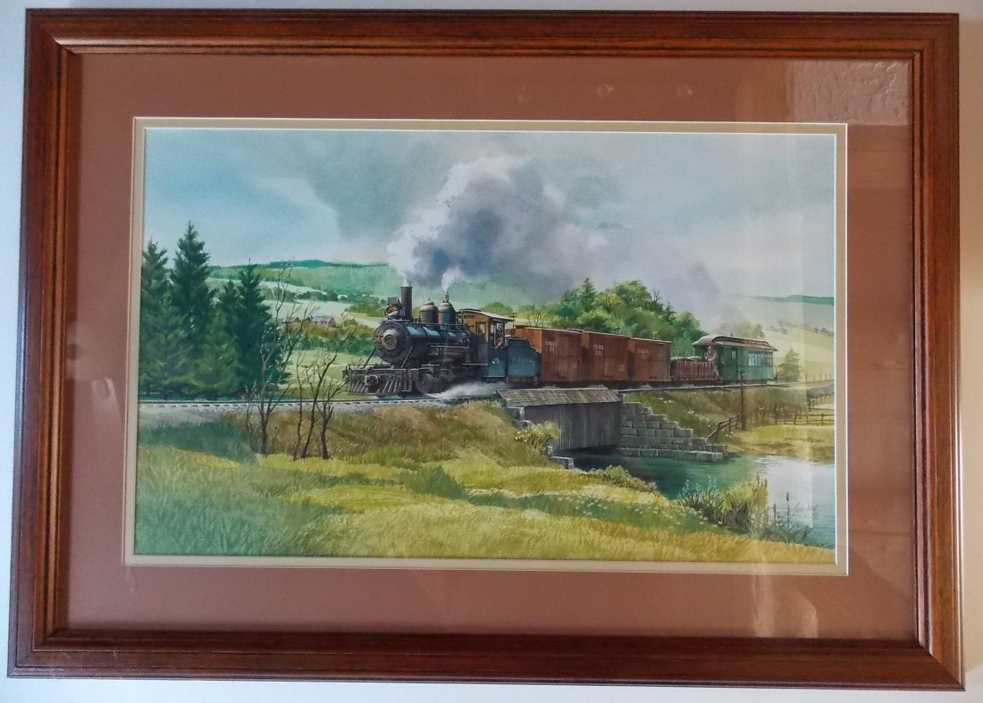 Original Water Color SR&RL Railroad by Swanberg