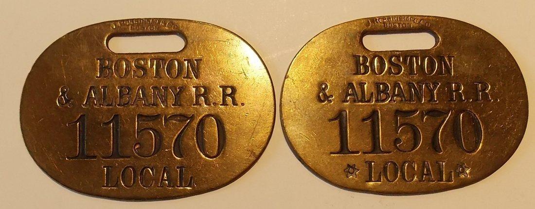 Boston & Albany Railroad Baggage Tag Set