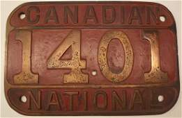 Canadian National Ry Locomotive Number Board 1401