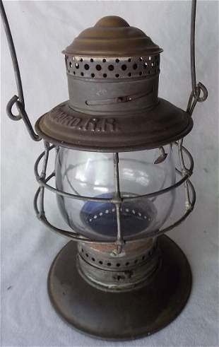 Concord Railroad Brasstop Bellbottom Lantern