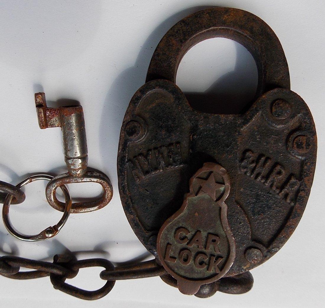 New Haven Railroad Cast Car Lock