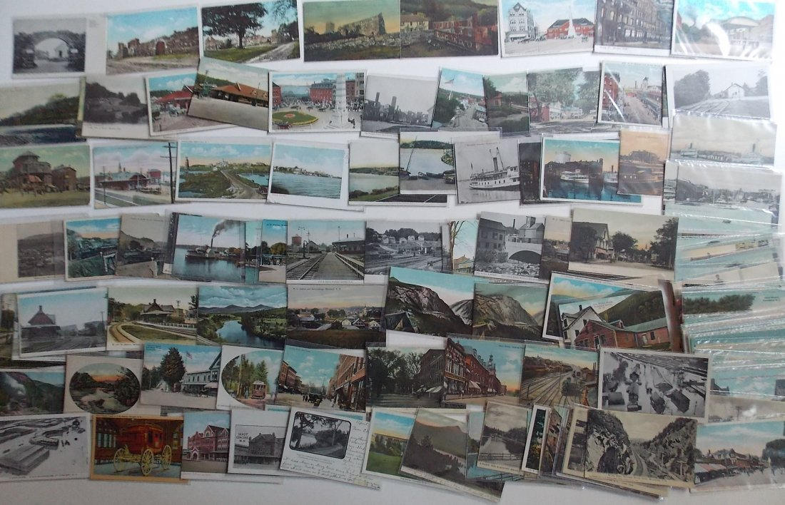 Connecticut, Rhode Island, NH Postcards (130)