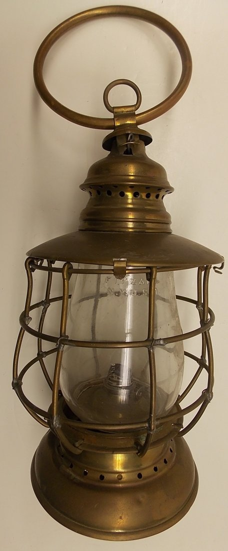 Howard & Morse 1870 patent Brass Lantern