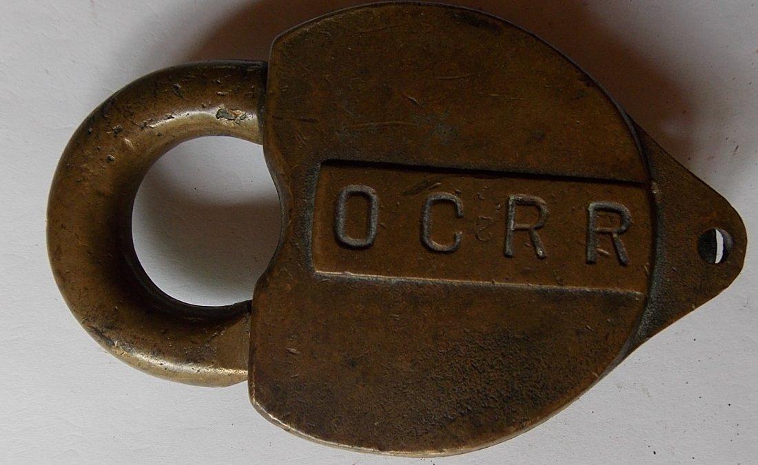 Old Colony Railroad Brass Car Lock