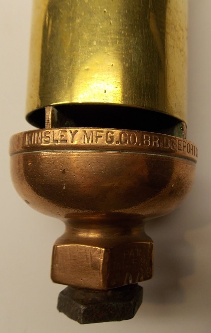 "Kinsley 4 Chamber Brass Whistle 2"" - 2"