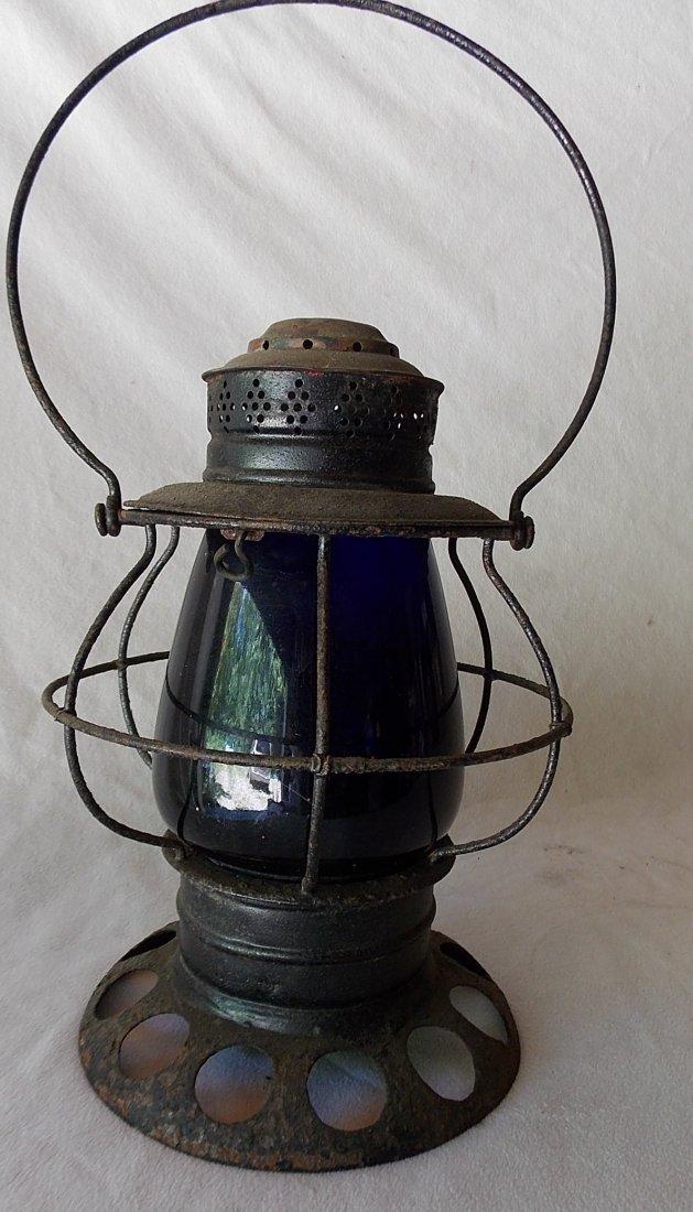 Brady Patent BTBB Lantern Blue Globe