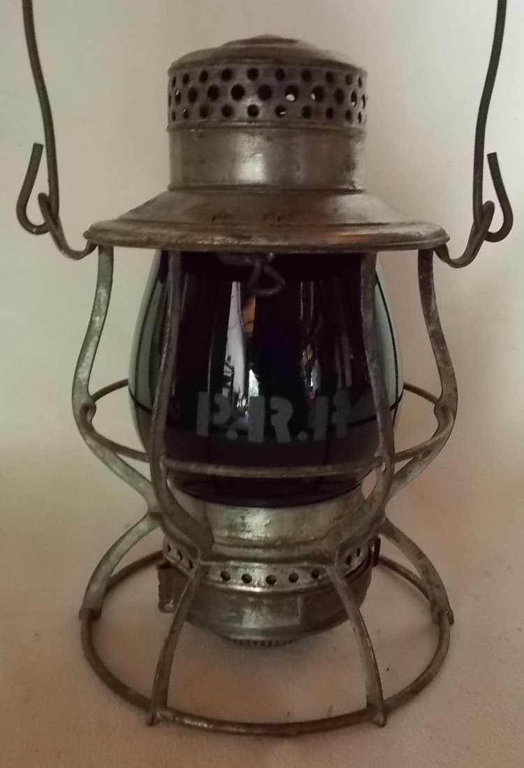 Pennsylvania Railroad Lantern Casey Green Etch